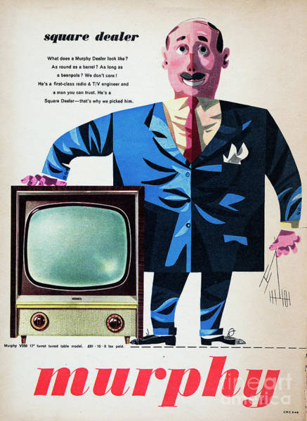 Photograph - Murphy Television Set by Picture Post