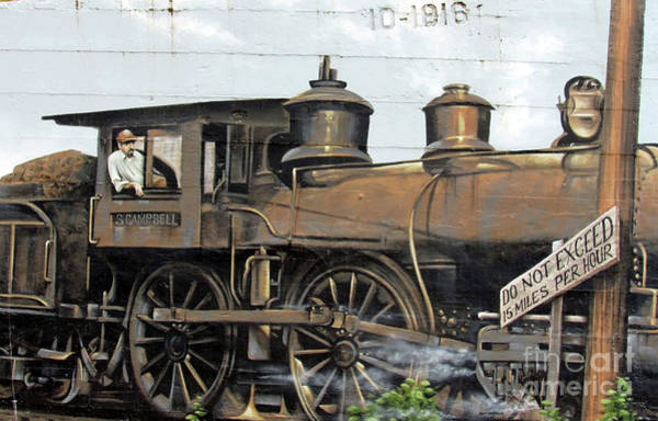 Photograph - Sheffield Railroad Mural by Roberta Byram