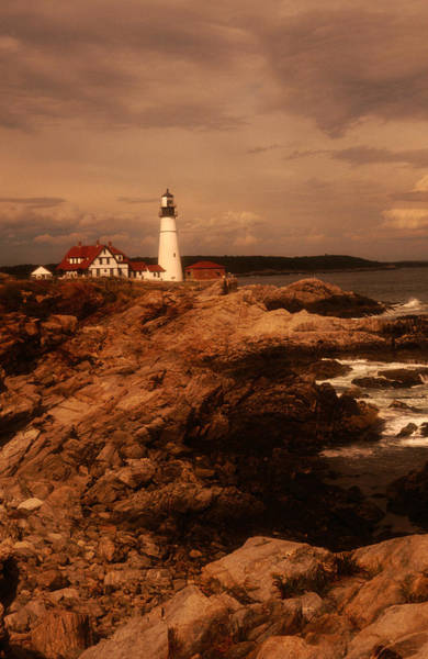 Casco Bay Photograph - Museum And Portland Head Light House At by Mark  Newman