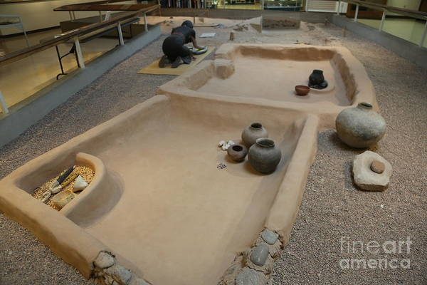 Wall Art - Photograph - Museum Prehistoric Layout Of Pit House  by Chuck Kuhn