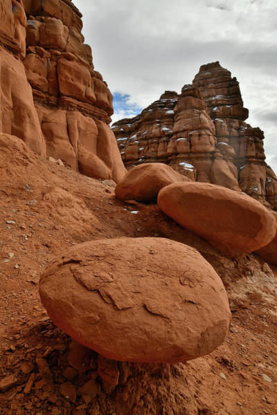 Photograph - Mushroom Boulders Along Highway 24 In Utah by Ray Mathis