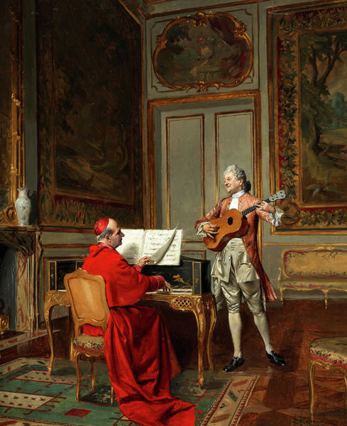 Wall Art - Painting - Music by Bernard Louis Borione