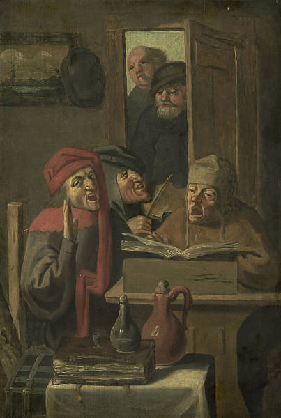 Painting - Music Company by School of Adriaen Brouwer