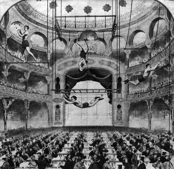 Acrobat Photograph - Music Hall Acrobats by Hulton Archive
