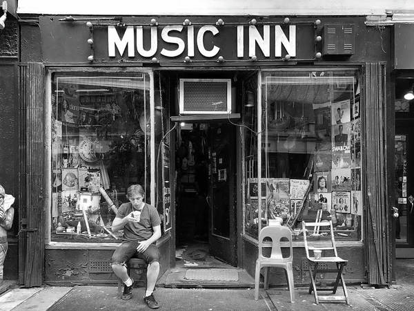 Storefront Photograph - Music Inn by Michael Gerbino