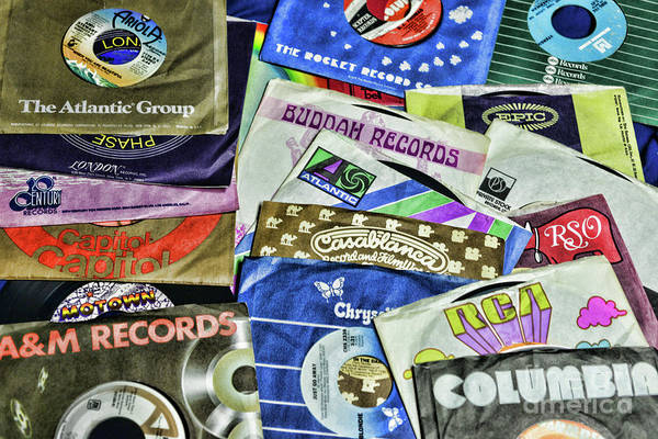 Wall Art - Photograph - Music-record Labels  by Paul Ward