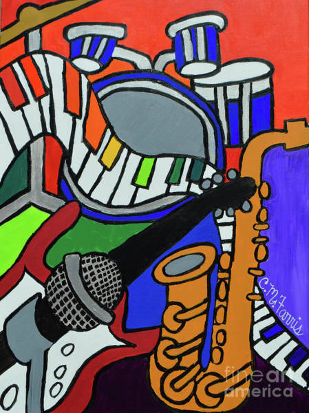 Painting - Music Vibes by Christopher Farris