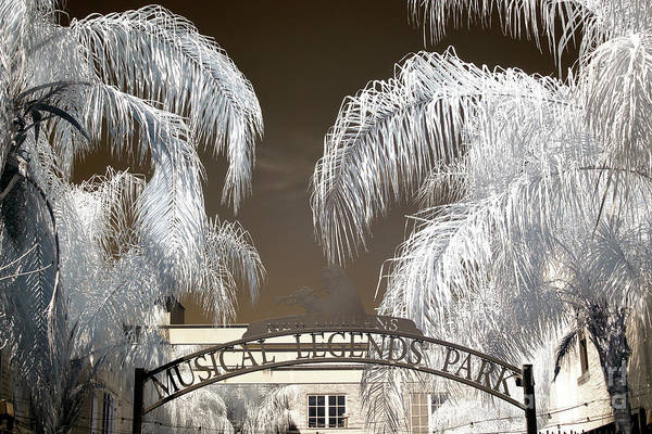 Wall Art - Photograph - Musical Legends Park New Orleans Infrared by John Rizzuto