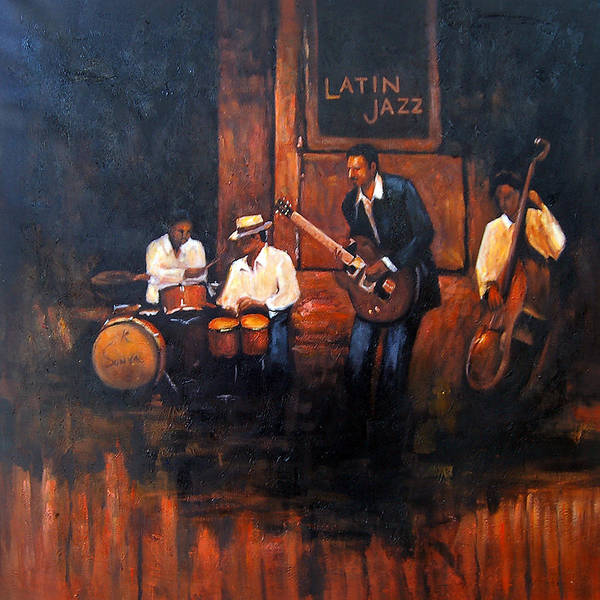 Wall Art - Painting - Musical Night by Vishal Gurjar