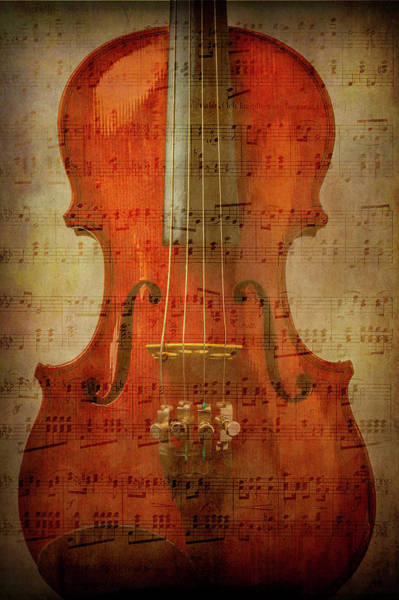 Sheet Music Photograph - Musical Note Violin by Garry Gay
