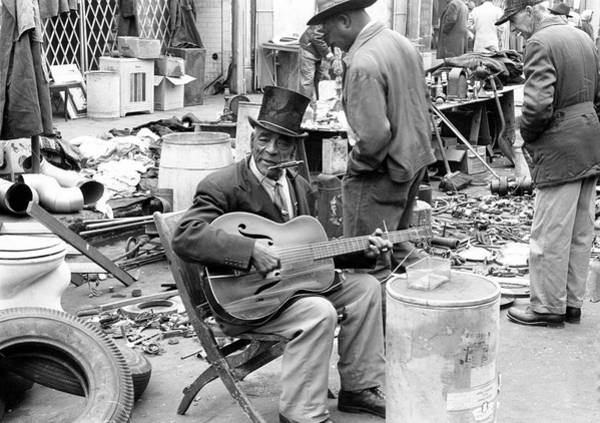 Harmonica Photograph - Musician On Maxwell Street by Chicago History Museum