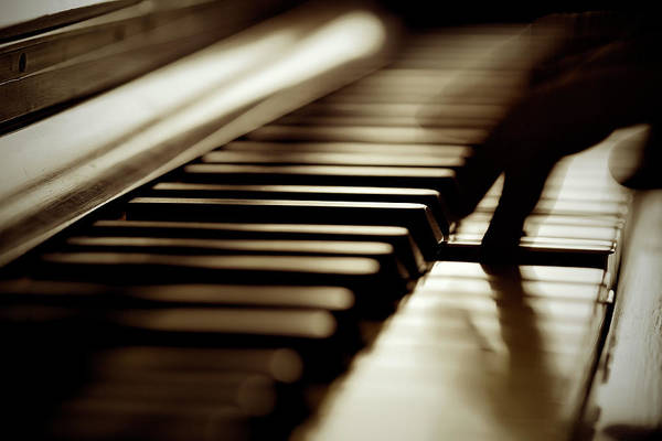Piano Photograph - Musician Play Piano by Massimo Merlini