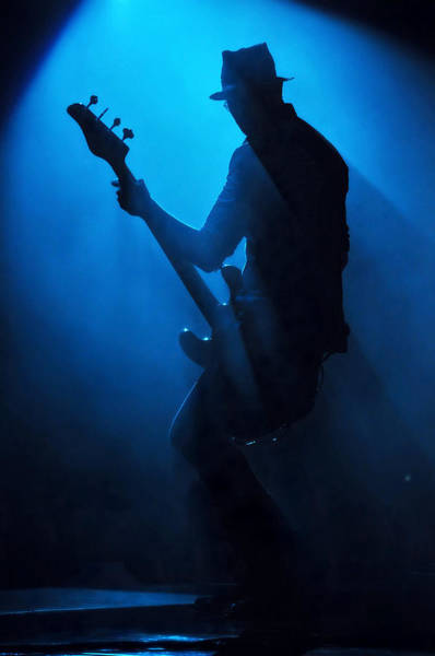 Center Stage Photograph - Musician Robert Deleo In Blue by Erik Hovmiller Photography
