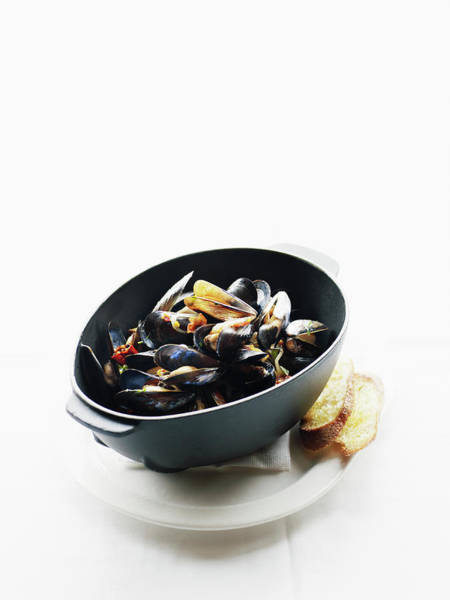 Wall Art - Photograph - Mussels With House Made Pancetta by Thomas Barwick