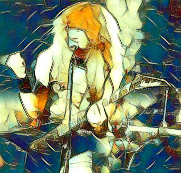 Megadeth Wall Art - Painting - Mustained Glass by Bruce McLaughlin