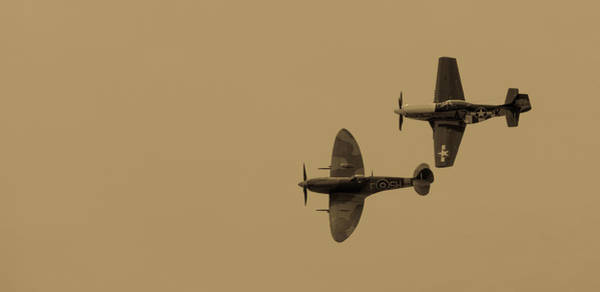 Photograph - Mustang And Spitfire by Kyle Lee