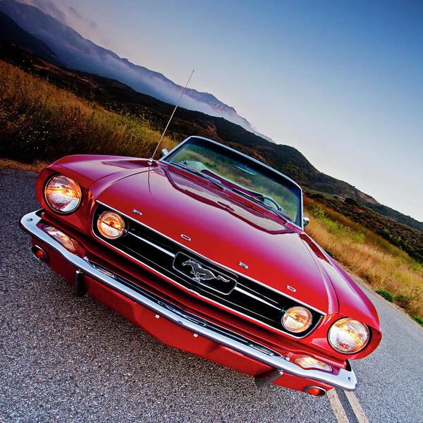 Photograph - Mustang Convertible by John Rodrigues