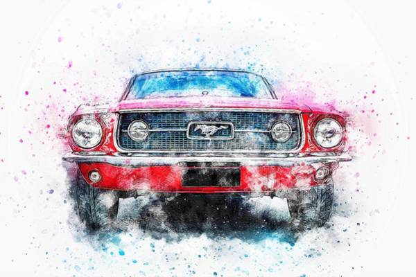 Wall Art - Photograph - Mustang, Ford by ArtMarketJapan