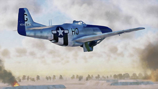 Painting - Mustang P51d - 02 by Andrea Mazzocchetti