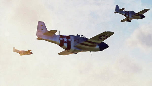 Painting - Mustang P51d - 04 by Andrea Mazzocchetti