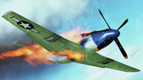 Painting - Mustang P51d - 09 by Andrea Mazzocchetti