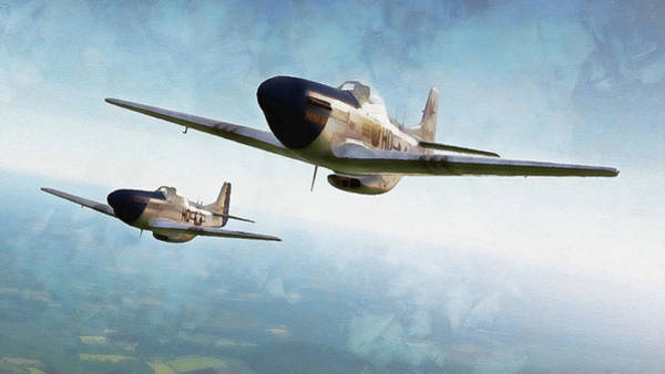 Painting - Mustang P51d - 12 by Andrea Mazzocchetti