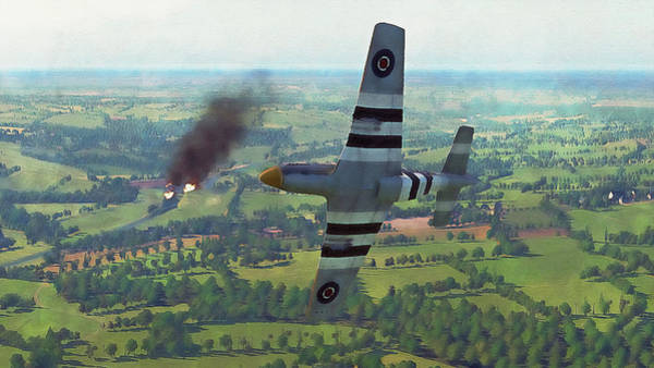 Painting - Mustang P51d - 15 by Andrea Mazzocchetti