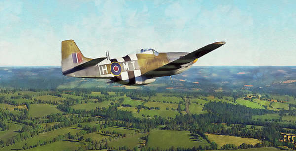 Painting - Mustang P51d - 16 by Andrea Mazzocchetti