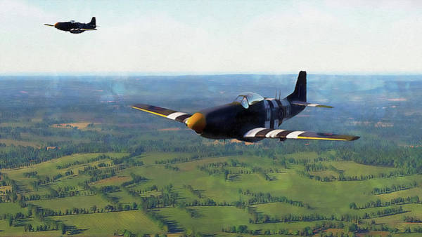 Painting - Mustang P51d - 17 by Andrea Mazzocchetti