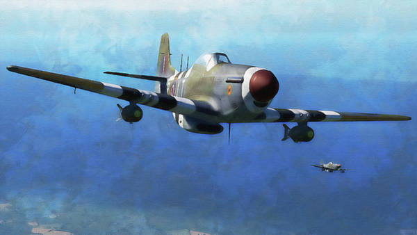 Painting - Mustang P51d - 19 by Andrea Mazzocchetti