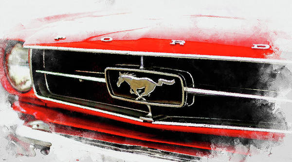Painting - Mustang Power - 01 by Andrea Mazzocchetti