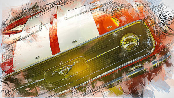 Painting - Mustang Style by Andrea Mazzocchetti