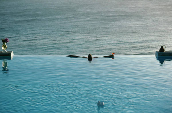 Coastline Photograph - Mustique Pool by Slim Aarons