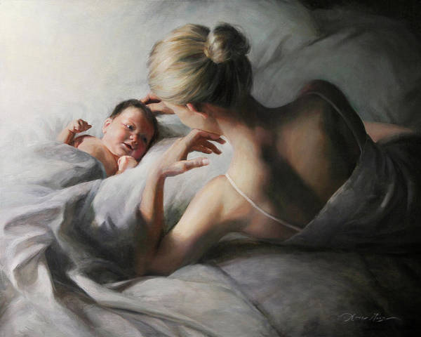 Infant Painting - Mutual Admiration by Anna Rose Bain