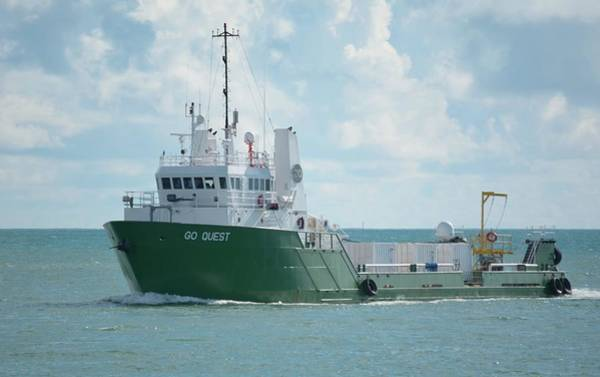 Photograph - Mv Go Quest-spacex Support Vessel by Bradford Martin