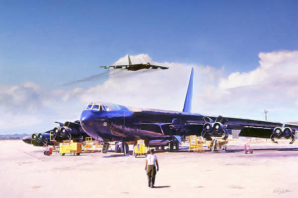 United States Air Force Digital Art - My Baby B-52 by Peter Chilelli