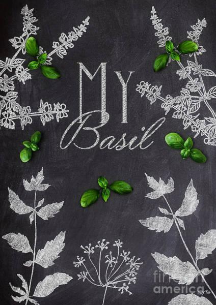 Wall Art - Mixed Media - My Basil by Mo T