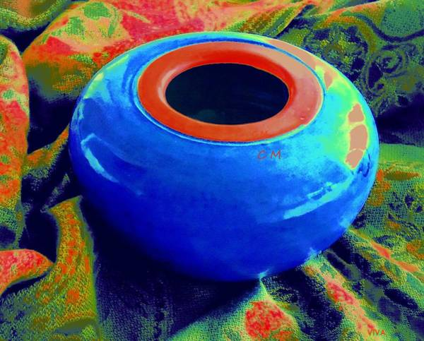 Photograph - My Blue Bowl -  The  Gift by VIVA Anderson