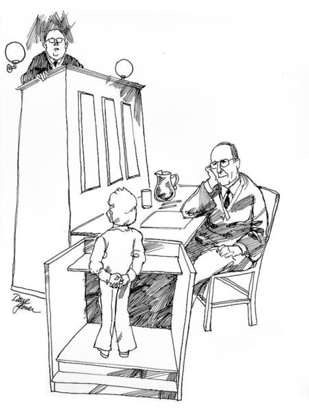 Drawing - My Day In Family Court by David Lloyd Glover