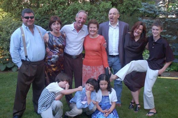 Photograph - My Family 2012 Parents 50th Anniversary by David Bridburg