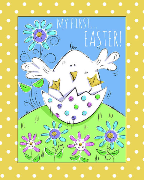Wall Art - Digital Art - My First Easter by Deidre Mosher