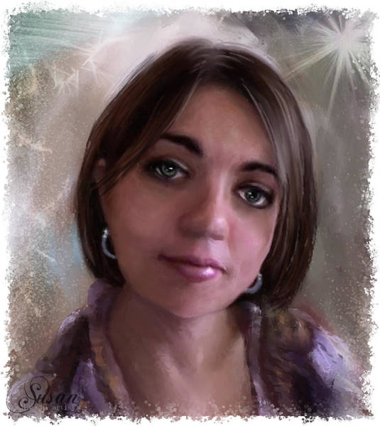 Digital Art - My Gina Xoxo by Susan Kinney