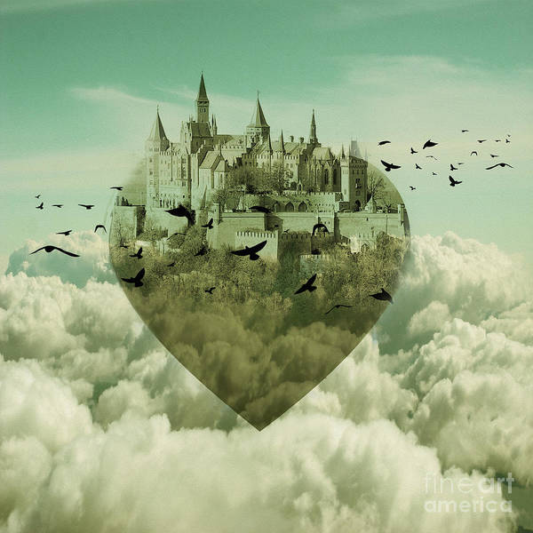 Wall Art - Painting - My Heart Is My Castle 01 by Gull G