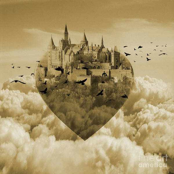 Wall Art - Painting - My Heart Is My Castle  by Gull G
