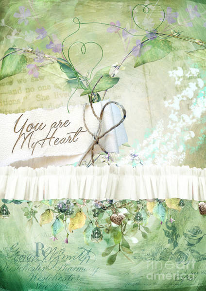 Wall Art - Digital Art - My Heart by Mo T