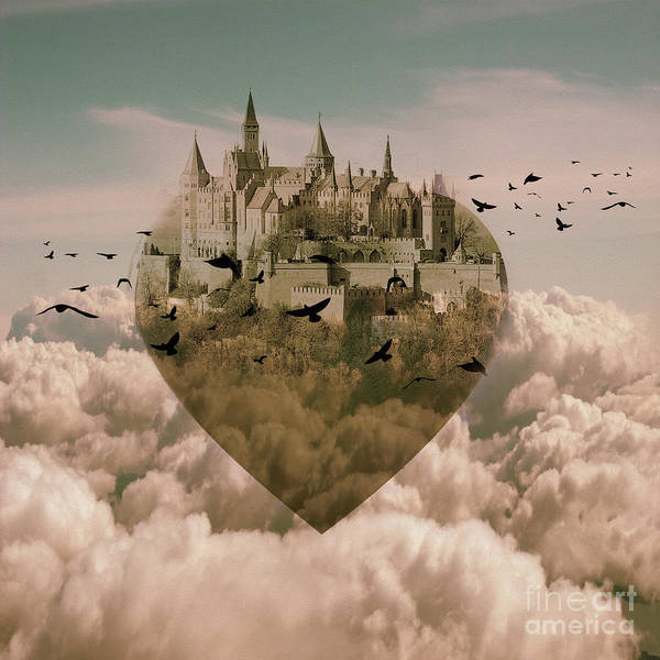 Wall Art - Painting - My Heart My Castle  by Gull G