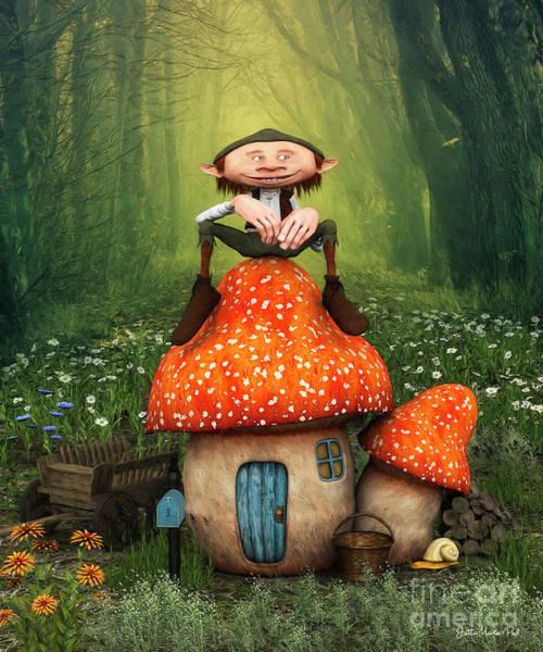 Digital Art - My Home Is My Castle by Jutta Maria Pusl