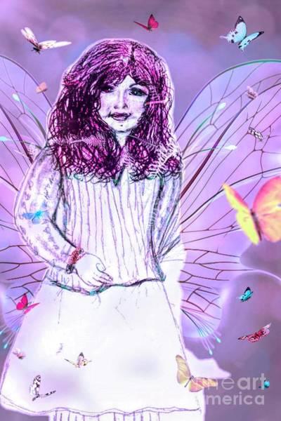 Drawing - My Little Butterfly by Debra Lynch