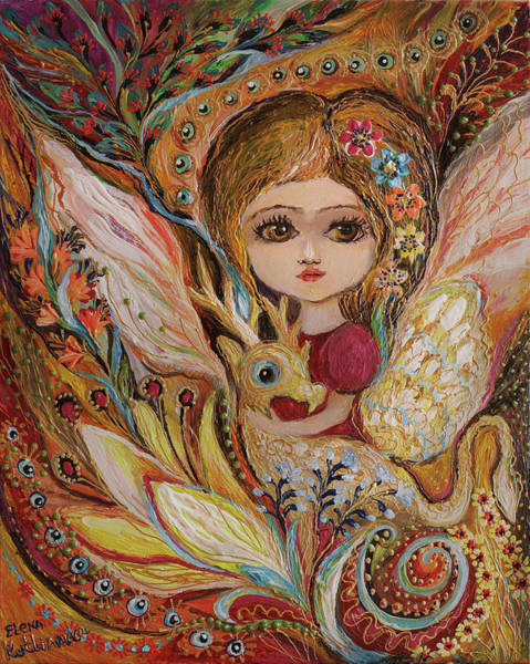 Wall Art - Painting - My Little Fairy Selma by Elena Kotliarker