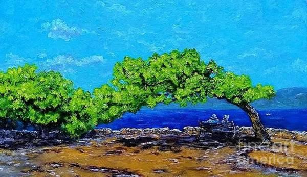 Wall Art - Painting - My Love For Hydra Island by Amalia Suruceanu